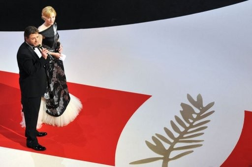 Cannes 2010, Russell Crowe e Cate Blanchett, interpreti di Robin Hood, sul red carpet