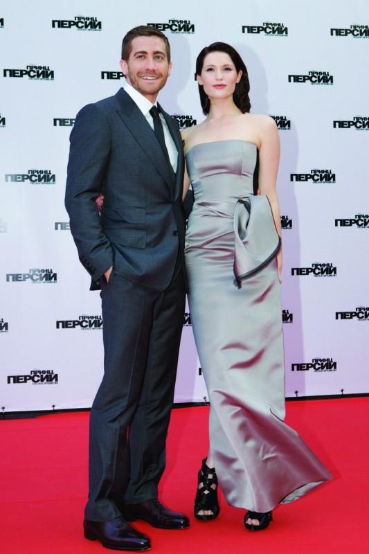 Jake Gyllenhaal e Gemma Arterton sul red carpet di Prince of Persia: Le Sabbie del Tempo a Mosca