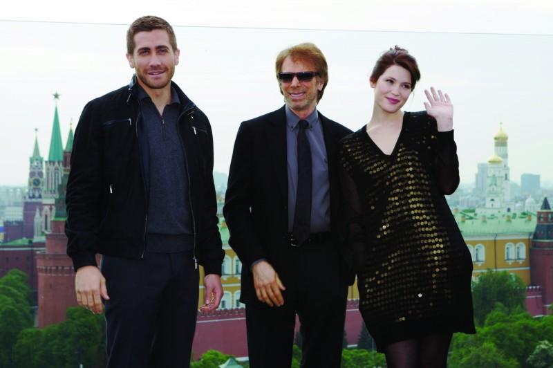 Jake Gyllenhaal, Jerry Bruckheimer e Gemma Arterton alla premiere di Mosca di Prince of Persia: Le Sabbie del Tempo