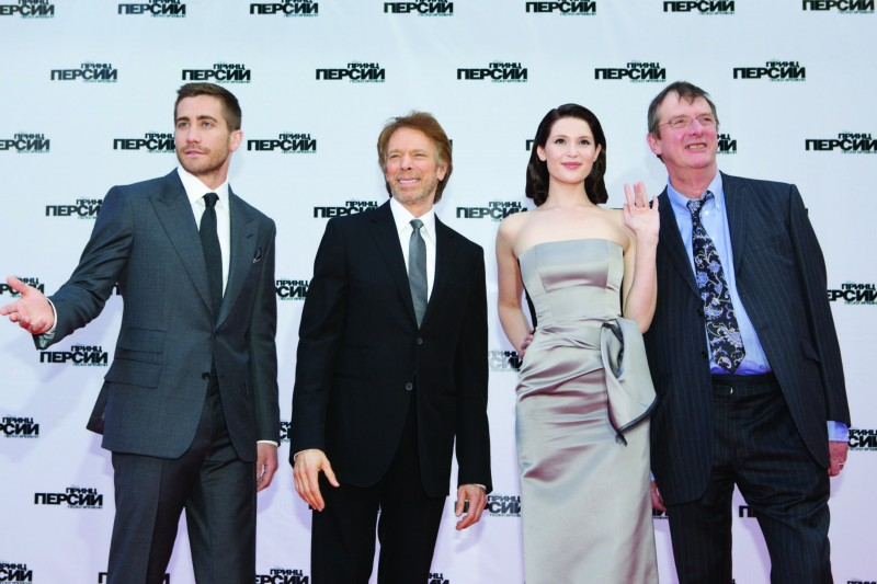 Jake Gyllenhaal, Jerry Bruckheimer, Gemma Arterton e Mike Newell sul red carpet di Prince of Persia: Le Sabbie del Tempo a Mosca