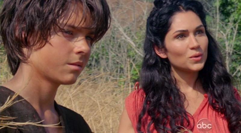 Ryan Bradford e Lela Loren in una scena di Attraverso il mare, dalla sesta stagione di Lost