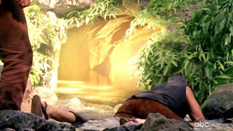 Titus Welliver in una scena tratta da Attraverso il mare dalla sesta stagione di Lost