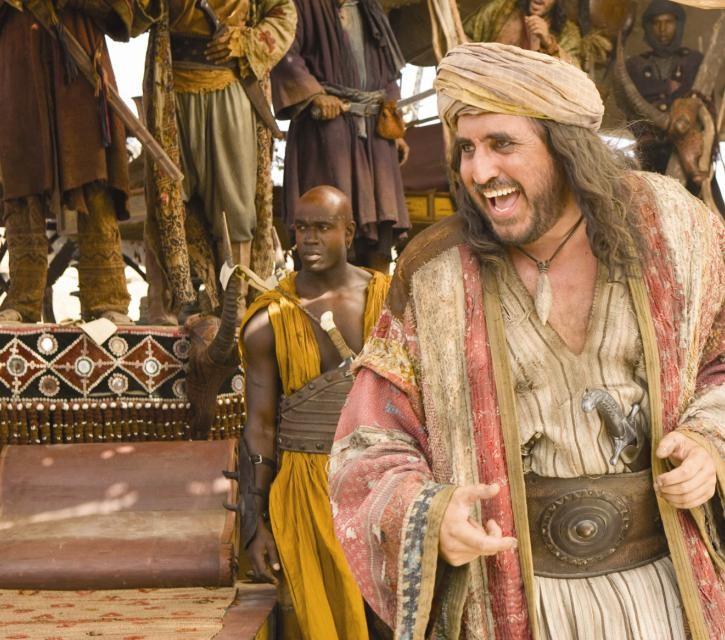 Un irriconoscibile Alfred Molina nel film Prince of Persia: Sands of Time