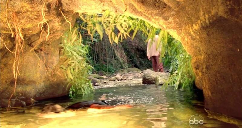 Una scena di Attraverso il mare dalla sesta stagione di Lost