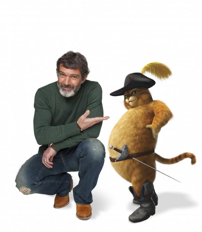 Antonio Banderas dà la voce al Gatto con gli Stivali nel film Shrek e vissero felici e contenti