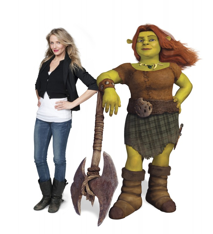 Cameron Diaz dà la voce a Fiona nel film Shrek e vissero felici e contenti