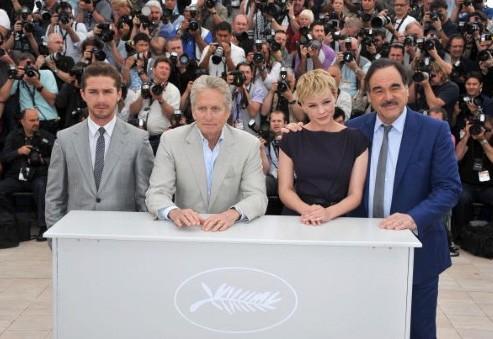 Cannes 2010: Oliver Stone con il cast del sequel di Wall Street: LaBeouf, Douglas, Mulligan.
