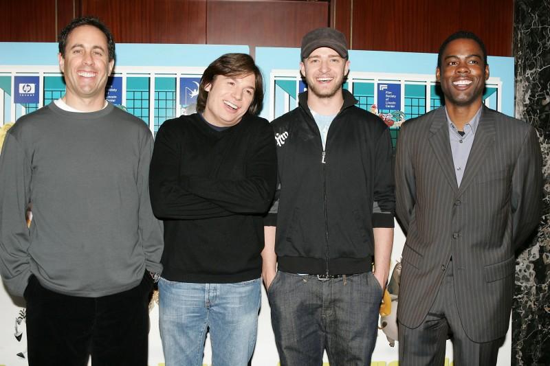 Jon Hamm, Mike Myers, Justin Timberlake e Craig Robinson danno le voci ai personaggi di Shrek e vissero felici e contenti
