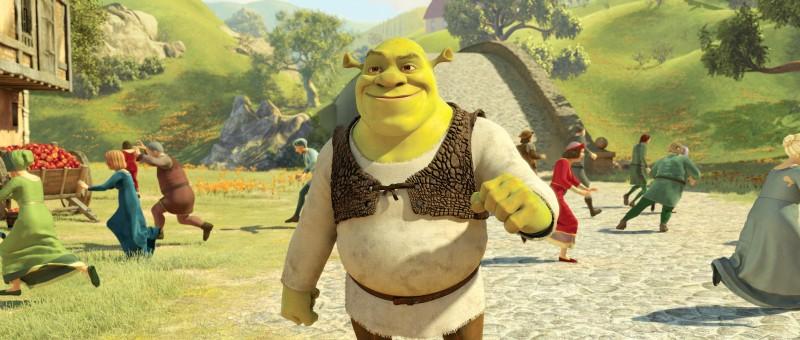 L'orco più amato dell'animazione nel film Shrek e vissero felici e contenti