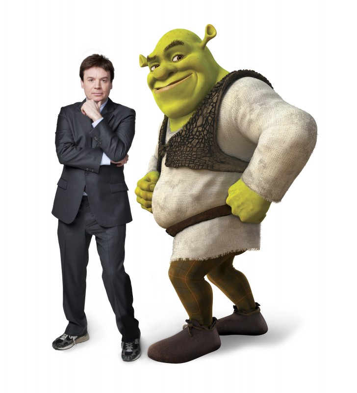 Mike Myers dà la voce a Shrek nel film Shrek e vissero felici e contenti