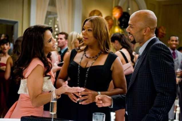 Paula Patton, Queen Latifah e Common in una scena di Just Wright