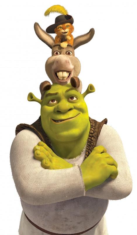 Shrek, Ciuchino e il Gatto con gli stivali, un trio perfetto per il film Shrek e vissero felici e contenti