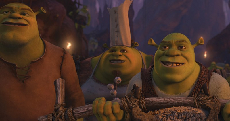 Shrek e gli altri orchi in una scena del film Shrek e vissero felici e contenti