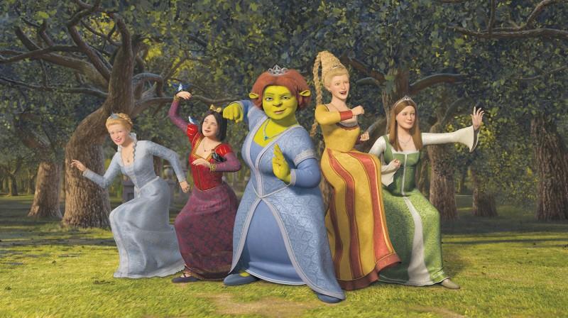 Un'immagine dei personaggi femminili di Shrek terzo