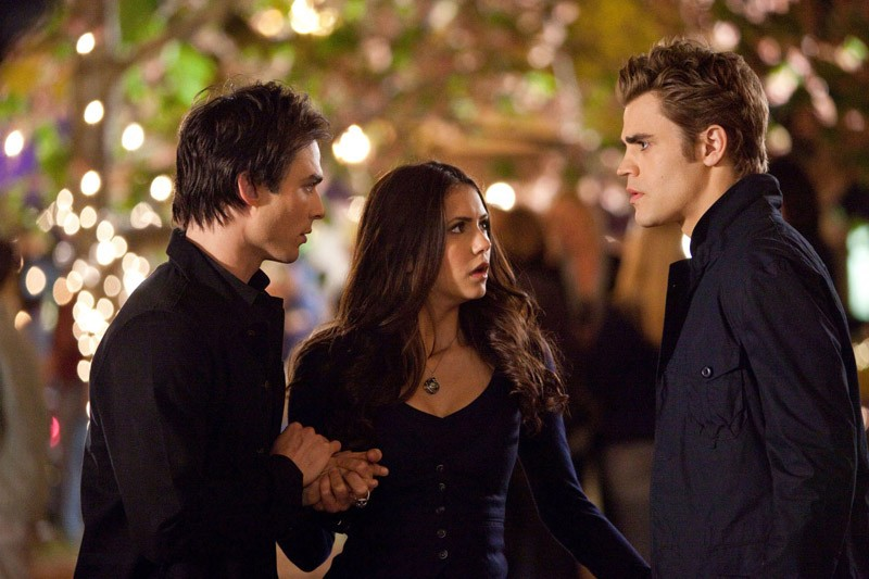 Il trio protagonista nell'episodio Founder's Day di The Vampire Diaries