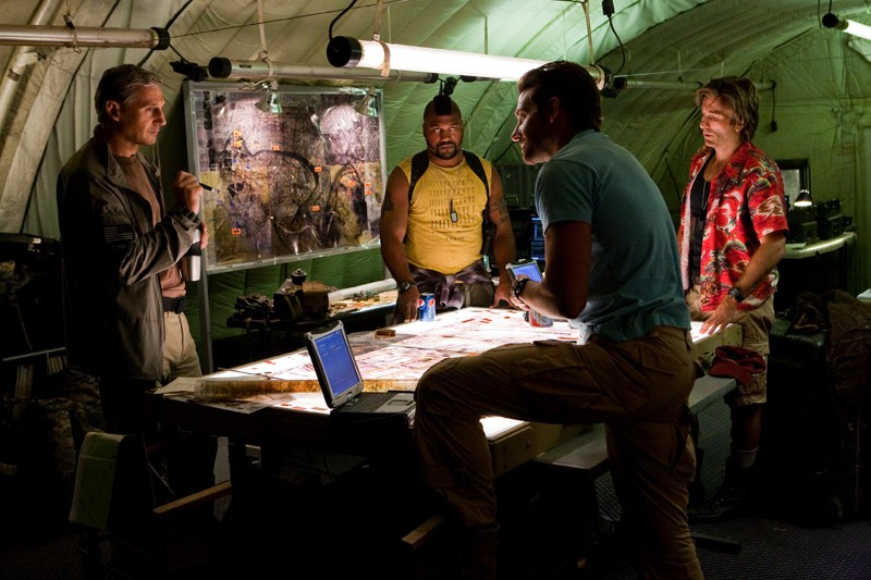 L'A-Team si organizza in una sequenza dell'omonimo film