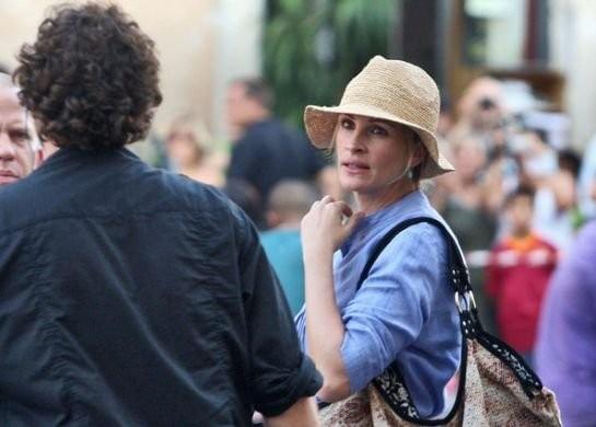 Julia Roberts a Roma, per le riprese di Eat, Pray, Love