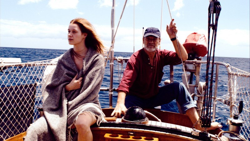 Klaus (Matthias Habich) e Ana (Manuela Vellés) in una scena del film Chaotica Ana
