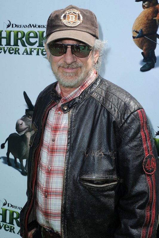 Steven Spielberg alla premiere di Los Angeles del film Shrek e vissero felici e contenti