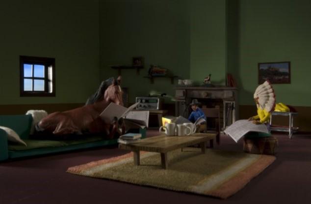 Un'immagine dei protagonisti del film A Town Called Panic