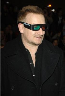 Bono alla premiere del film U2 3D al Sundance Film Festival (2008)