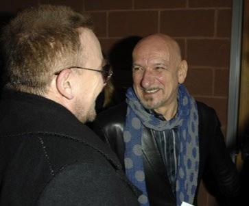 Bono e Ben Kingsley alla premiere del film U2 3D al Sundance Film Festival (2008)