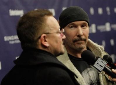 Bono e The Edge alla premiere del film U2 3D al Sundance Film Festival (2008)