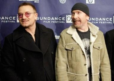 Bono e The Edge partecipano alla premiere del film U2 3D al Sundance Film Festival (2008)