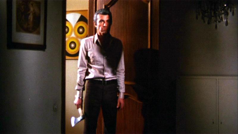 Chris Avram in una scena del film Reazione a catena di Mario Bava