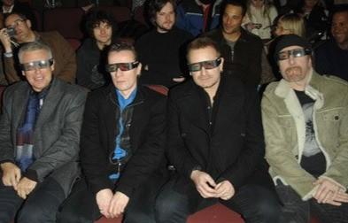 Gli U2 partecipano alla premiere del film U2 3D al Sundance Film Festival (2008)
