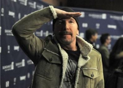 The Edge alla premiere del film U2 3D al Sundance Film Festival (2008)