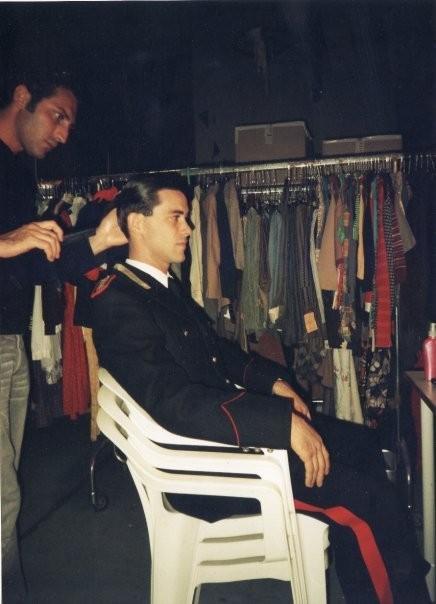 Alessandro Agnello sul set di Baaria