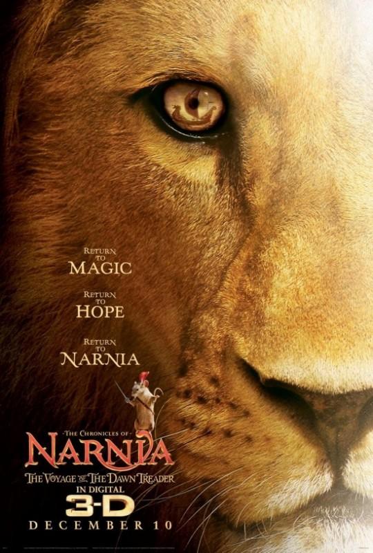 Locandina originale di Le cronache di Narnia: Il viaggio del veliero