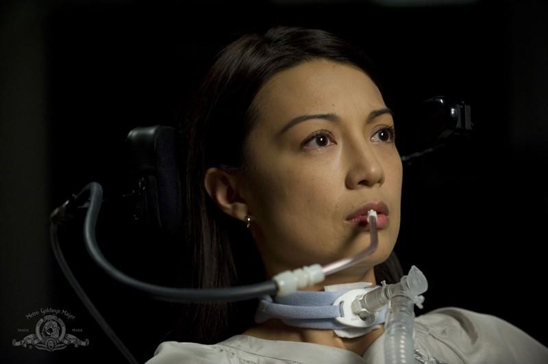 Ming-Na in una scena dell'episodio Sabotage di Stargate Universe