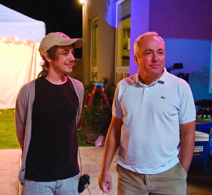 Will Forte e il regista Jorma Taccone sul set del film MacGruber