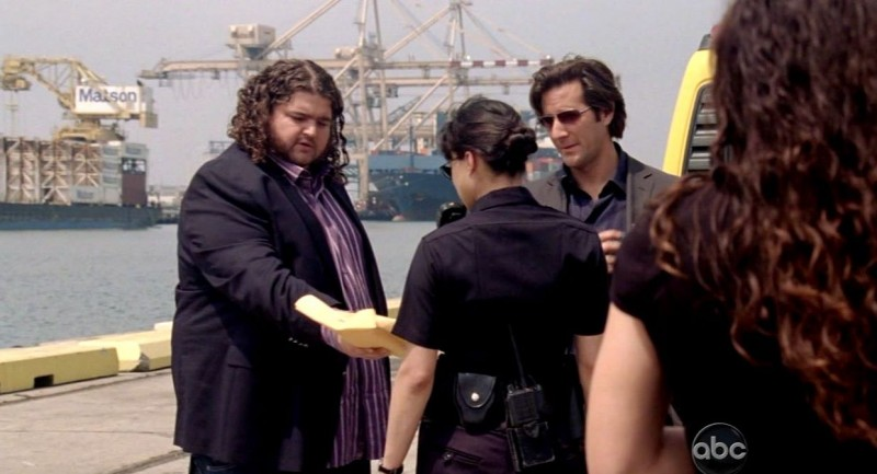 Jorge Garcia, Henry Ian Cusick, Michelle Rodriguez ed Evangeline Lilly in una scena di Per cosa sono morti dalla sesta stagione di Lost