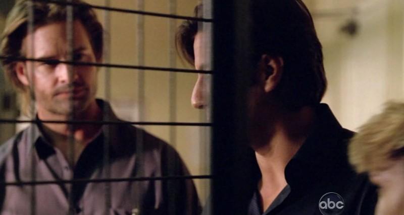 Josh Holloway e Henry Ian Cusick in una scena di Per cosa sono morti dalla sesta stagione di Lost