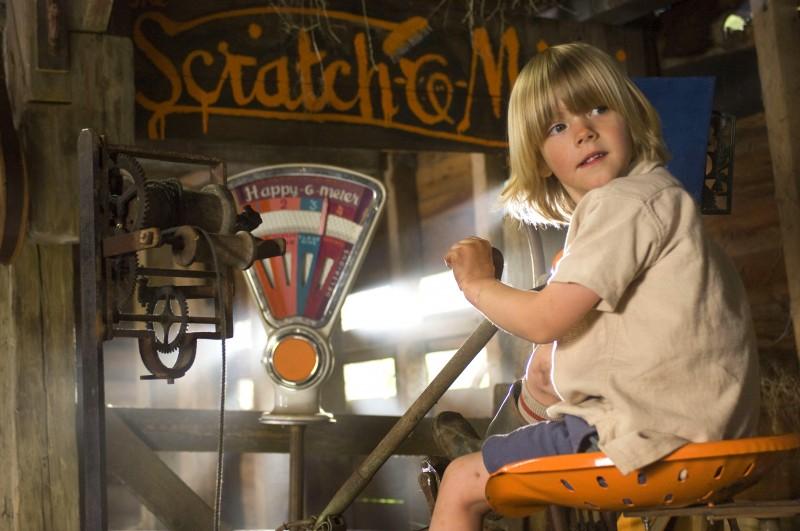 Oscar Steer in una sequenza del film Tata Matilda e il grande botto