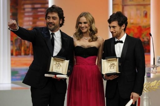 Cannes 2010: Javier Bardem ed Elio Germano con la Palma ex-aequo vinta rispettivamente per Biutiful e La nostra vita