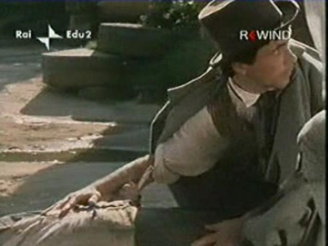 Antonio Orfanò in una scena drammatica del film La certosa di Parma, regia di Mauro Bolognini