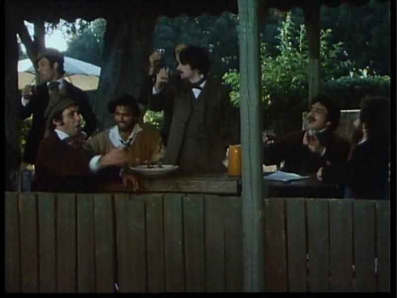 Antonio Orfanò/ una scena del film Verdi (regia di Renato Castellani) con Ronald Pickup e Lino Capolicchio