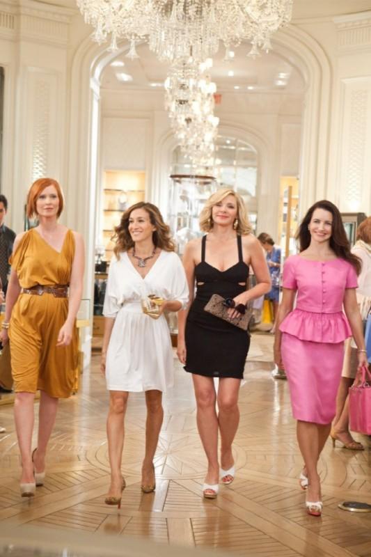 Cynthia Nixon, Sarah Jessica Parker, Kim Cattrall e Kristin Davis in un'immagine di Sex and the City 2