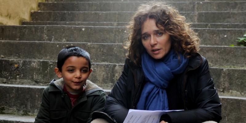 Denis Nikolic con Valeria Golino sul set del corto Armandino e il Madre