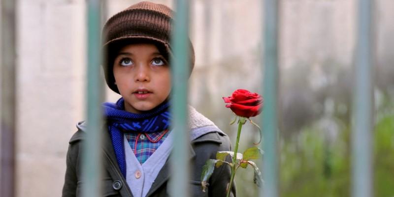 Il piccolo Denis Nikolic, protagonista del corto Armandino e il Madre