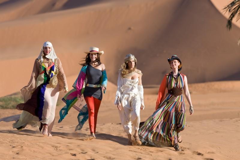 Kim Cattrall, Kristin Davis, Sarah Jessica Parker e Cynthia Nixon ad Abu Dhabi in Sex and the City 2
