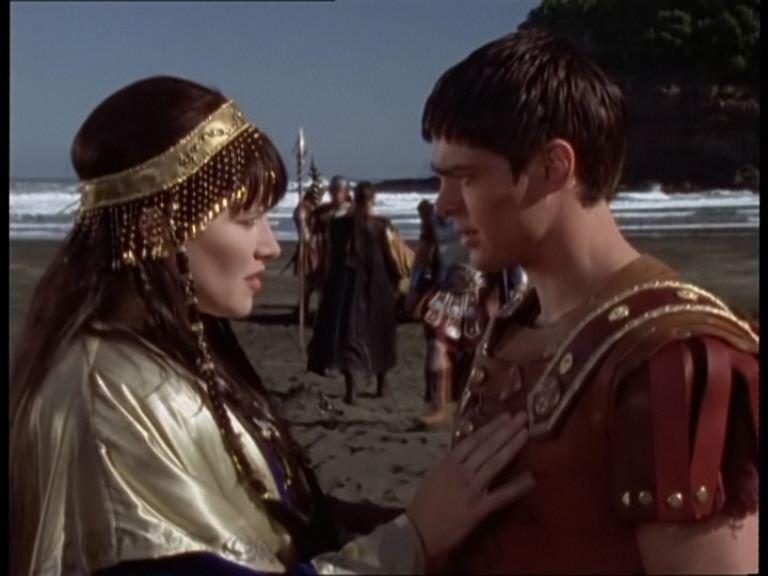 Lucy Lawless e Karl Urban in Xena e Giulio Cesare
