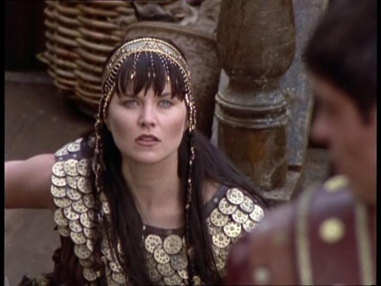 Lucy Lawless in Xena e Giulio Cesare