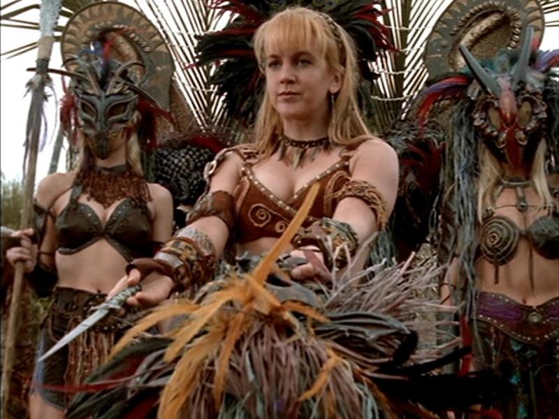 Renee O'Connor in Xena alla ricerca dell'Ambrosia