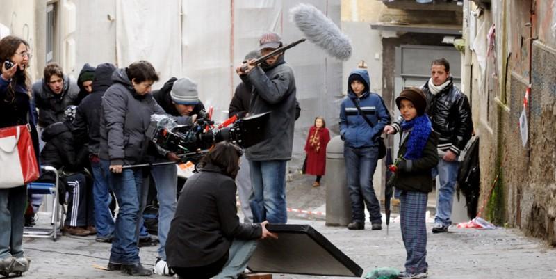 Un'immagine dal set del film Armandino e il Madre