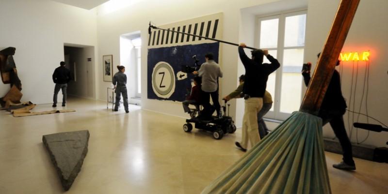 Un'immagine delle riprese del corto Armandino e il Madre